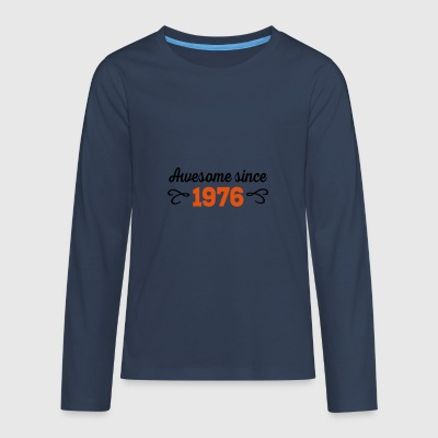 6061912 124613916 awesome 1976 - Teenagers' Premium Longsleeve Shirt
