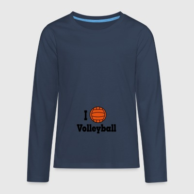 2541614 15775450 volleybal - Teenager Premium shirt met lange mouwen