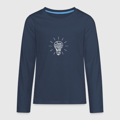 Xenu Enlighten Us - White - Teenagers' Premium Longsleeve Shirt