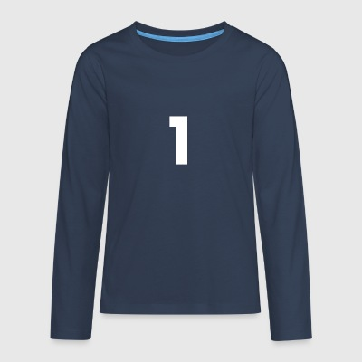 Number 1, number 1, 1, one, number one, one - Teenagers' Premium Longsleeve Shirt