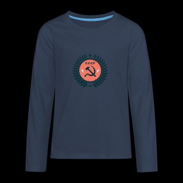 Hammer Sickle Badge - Teenagers' Premium Longsleeve Shirt