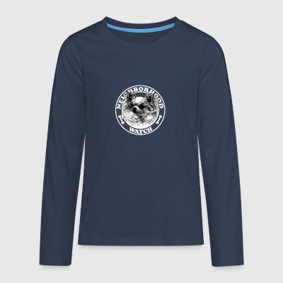 Dog - Neighborhood watch - - Teenagers' Premium Longsleeve Shirt