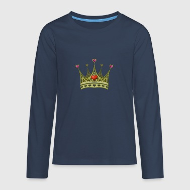 Prinsesse Crown - Teenager premium T-shirt med lange ærmer