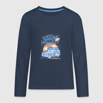 Riding The Waves - Teenager Premium Langarmshirt