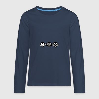 Three Wise Monkeys - Teenagers' Premium Longsleeve Shirt