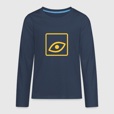The eye is an eye-catcher - Teenagers' Premium Longsleeve Shirt