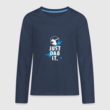 dab spritzer dabbing touchdown just dab it fun coo - Teenager Premium Langarmshirt