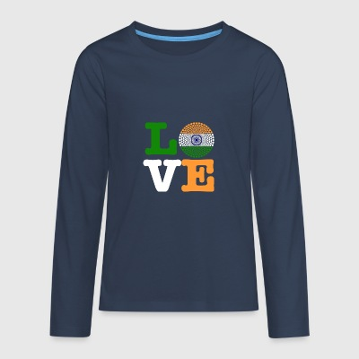 INDIA HEART - Teenagers' Premium Longsleeve Shirt