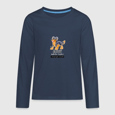 Aussie CartoonClub - Blue Merle & Tan - Teenagers' Premium Longsleeve Shirt
