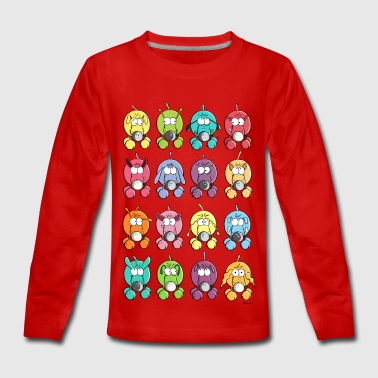 Many colourful dogs - Teenagers' Premium Longsleeve Shirt