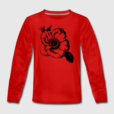 Blüte Illustration - Teenager Premium Langarmshirt