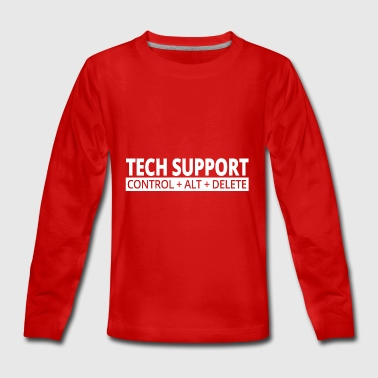 support technique - T-shirt manches longues Premium Ado