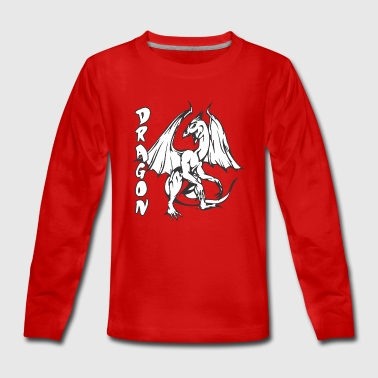 standing dragon - Teenagers' Premium Longsleeve Shirt