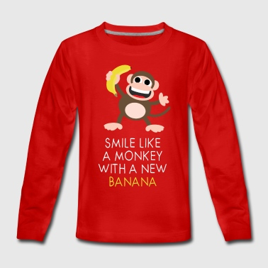 Monkey with banana - Teenager Premium Langarmshirt