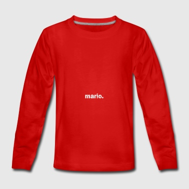 Gift grunge style first name mario - Teenagers' Premium Longsleeve Shirt