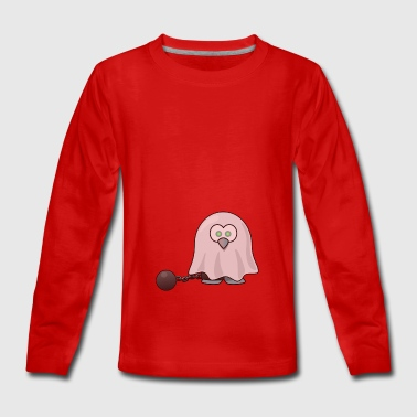 Ghost with iron ball around the foot. gift idea - Teenagers' Premium Longsleeve Shirt