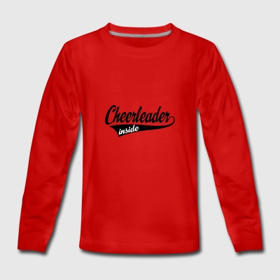 2541614 15636926 cheerleader - Teenager premium T-shirt med lange ærmer