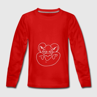 Funny rat face - Teenagers' Premium Longsleeve Shirt