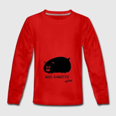 Mad Hamster black - Teenagers' Premium Longsleeve Shirt