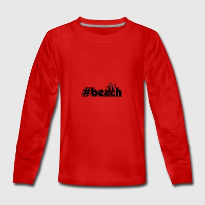 beach men xy outline - Teenagers' Premium Longsleeve Shirt