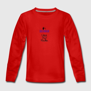 White Hat Hacker - Teenagers' Premium Longsleeve Shirt