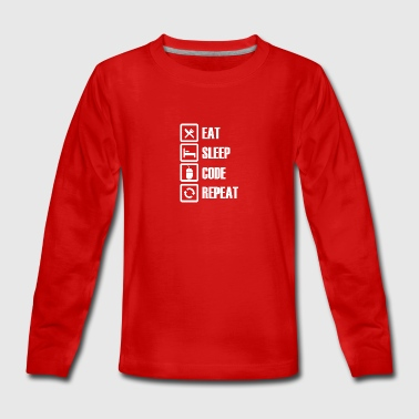 Eat sleep code repeat - Teenagers' Premium Longsleeve Shirt