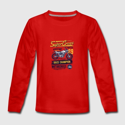 super cross2 - T-shirt manches longues Premium Ado