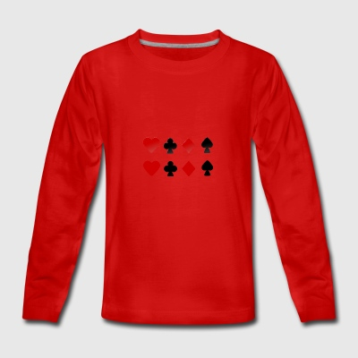 Cards - Teenager Premium Langarmshirt