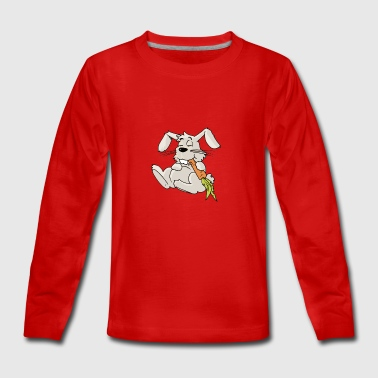 Bunny rabbit carrot Rodent Hare Rodent Hamster - Teenagers' Premium Longsleeve Shirt
