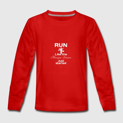 Run - Teenager Premium Langarmshirt