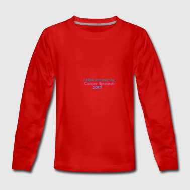 CANCER RESEARCH 2017! - Teenagers' Premium Longsleeve Shirt