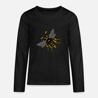 Bee wasp hornet yellow black - Teenage Premium Longsleeve Shirt