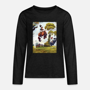Pony rodeo Thelwell Cartoon - Teenager premium longsleeve