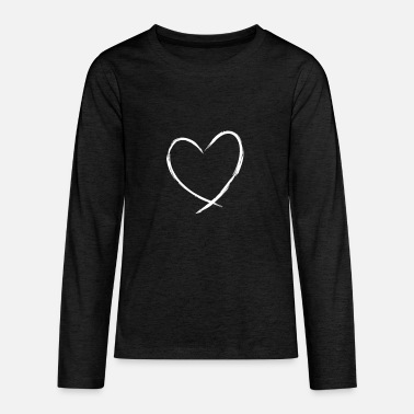 Plain Heart symbol love gift friendship romantic - Teenage Premium Longsleeve Shirt