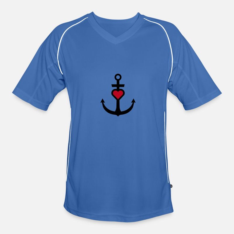 Anchor T-Shirts - Anchor with heart - Men's Football Jersey blue/white