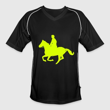 cheval au galop - Maillot de football Homme