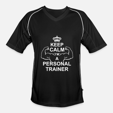 Trainer keep_calm_i'm_a_personal_trainer_g1 - Men's Football Jersey