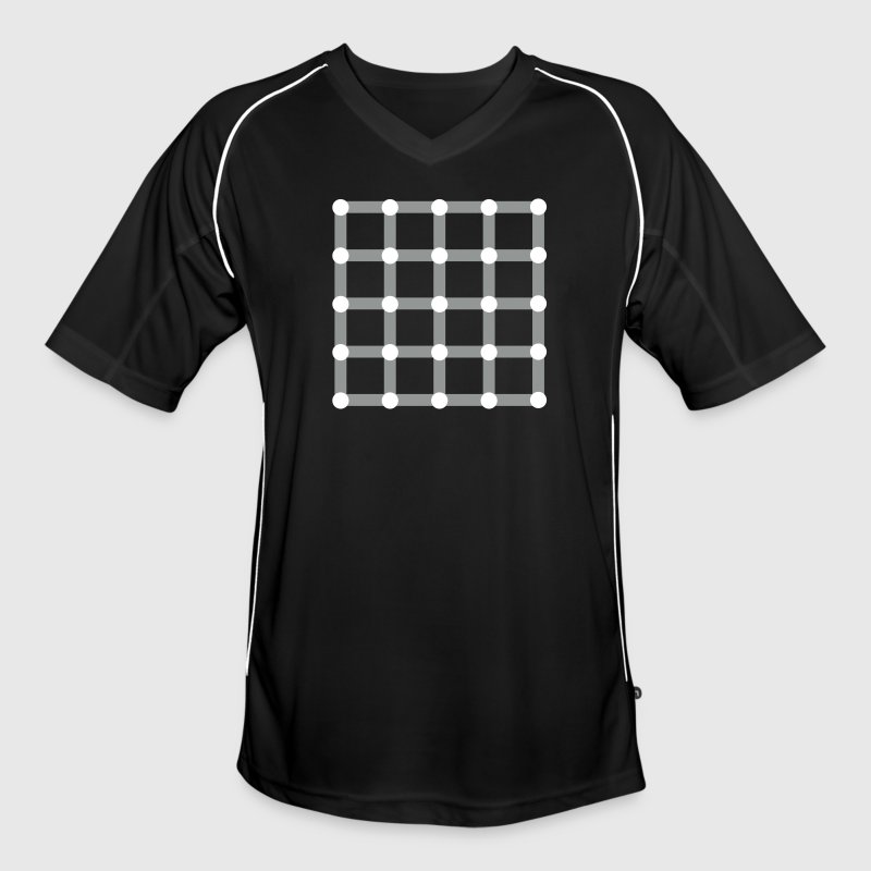Optical illusion, Find the black dot! - Men's Football Jersey