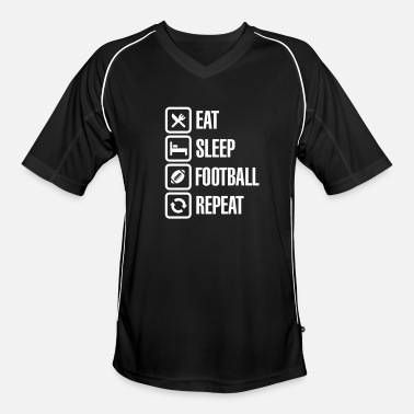 Track And Field Eat Sleep American Football Repeat - Men's Football Jersey