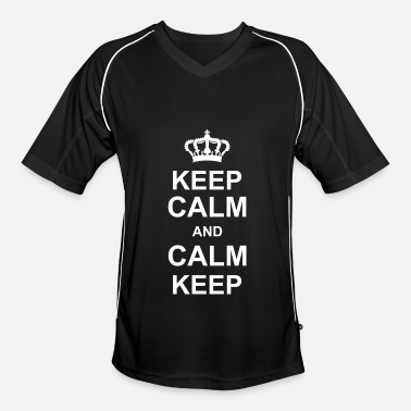 Keep Calm keep calm and calm keep kg10 - Men's Football Jersey