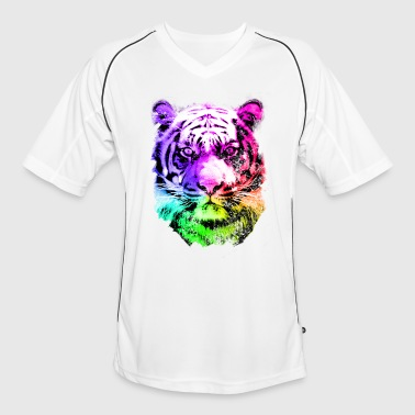 tiger - tigre - big cat - pshycho - Mannen voetbal shirt