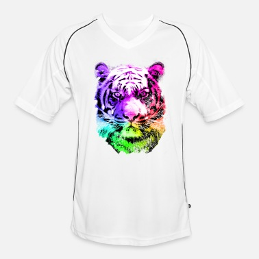 Five tiger - tigre - big cat - pshycho - Mannen voetbal shirt