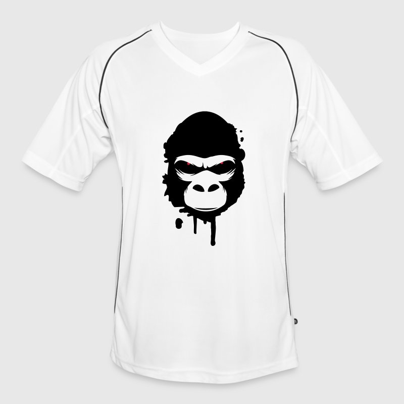 gorilla head Graffiti - Men's Football Jersey