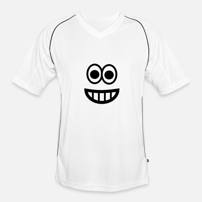 Emoji T-shirts - Very happy Emoji - Maillot de football Homme blanc/noir