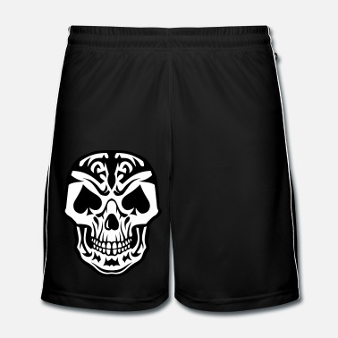 Carte tete mort pique pic poker carte skull - Short de football Homme