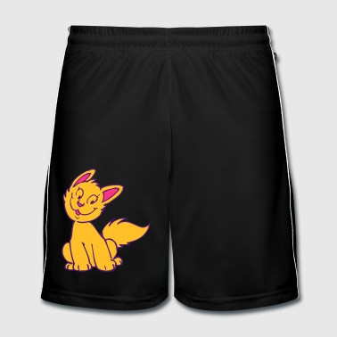 Smiling Cartoon Kitten by Cheerful Madness!! - Men's Football shorts