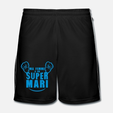 Mari ma femme super mari poing fermer - Short de football Homme