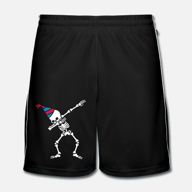 Felice Dab skeleton dabbing birthday party hat - Pantaloncini da calcio uomo