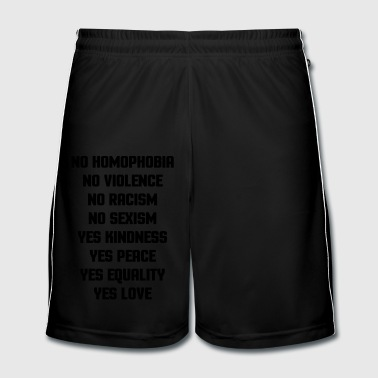No Homophobia  - Mannen voetbal shorts