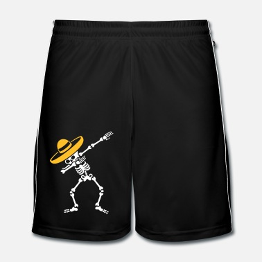 Texas Dab Dabbing skeleton Sombrero Mexico Cinco de Mayo - Short de football Homme